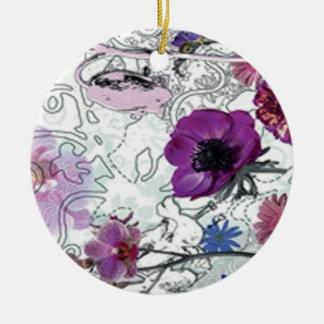 Purple Blooms Floral Ornament
