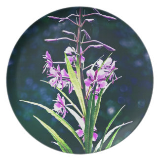 Purple Blooms Party Plates