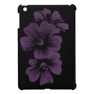 Purple blossom pattern ~editable background iPad mini covers