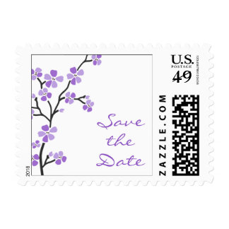Purple Blossom Save the Date Stamps