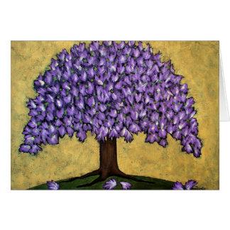 Purple Blossom Tree Card
