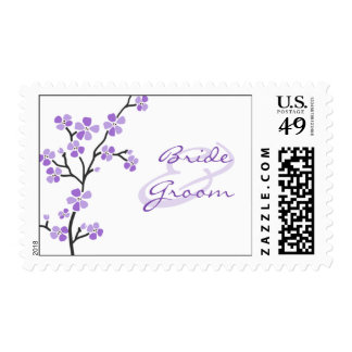 Purple Blossom Wedding Stamps