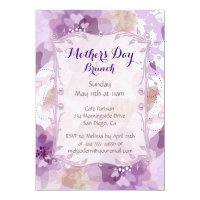 Purple Blossoms Mother's Day Brunch Card