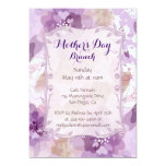 Purple Blossoms Mother's Day Brunch 5x7 Paper Invitation Card