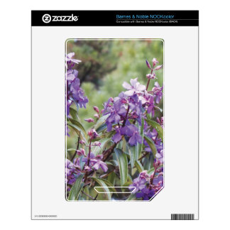 Purple Blossoms Skin For NOOK Color