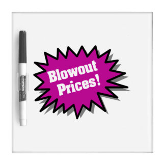 Purple Blowout Prices Dry Erase White Board