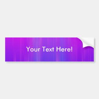 Purple & Blue Abstract Background: Template Bumper Sticker
