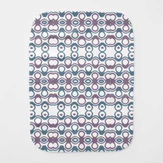 Purple & Blue Abstract Bubble Design Pattern Baby Burp Cloth