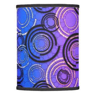 Purple Blue Abstract Circles Lamp Shade