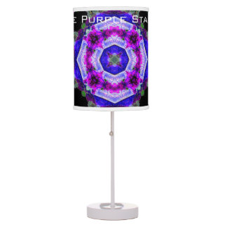 Purple blue abstract colorburst accent table lamp