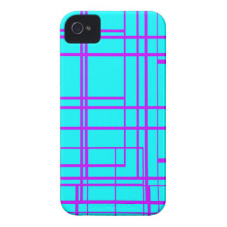 Purple & Blue Abstract Design iPhone 4 Case-Mate Case