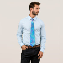 Purple Blue Abstract Design Neck Tie