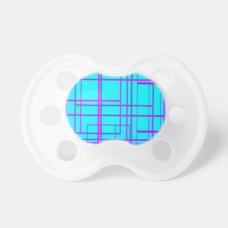 Purple & Blue Abstract Design Pacifiers