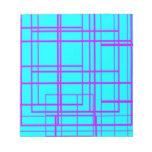 Purple & Blue Abstract Design Scratch Pad