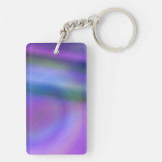 Purple blue abstract keychain