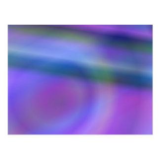 Purple blue abstract postcard