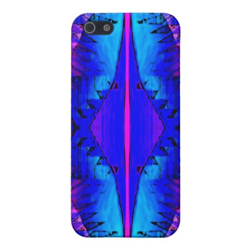 Purple Blue Abstract Speck Case Cover For iPhone 5