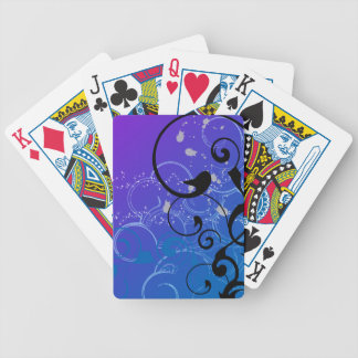 Purple & Blue Abstract Swirl Bicycle Playing Cards