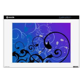 """Purple & Blue Abstract Swirl Decals For 13"""" Laptops"""