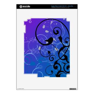 Purple & Blue Abstract Swirl iPad 3 Decal