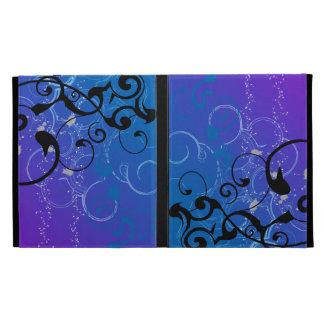 Purple & Blue Abstract Swirl iPad Folio Covers