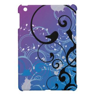 Purple & Blue Abstract Swirl iPad Mini Cases