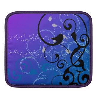Purple & Blue Abstract Swirl iPad Sleeves
