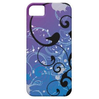 Purple & Blue Abstract Swirl iphone 5 Case