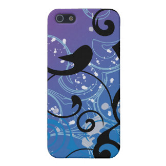 Purple & Blue Abstract Swirl iphone Case Cover For iPhone 5/5S