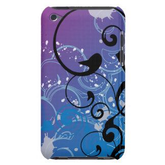 Purple & Blue Abstract Swirl iPod Touch  Case Barely There iPod Cover