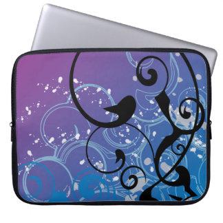 Purple & Blue Abstract Swirl - Laptop Sleeve