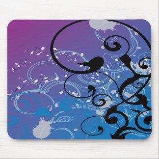 Purple & Blue Abstract Swirl Mousepad