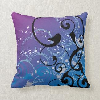 Purple & Blue Abstract Swirl - Pillows