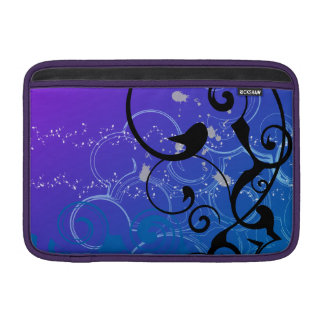 Purple & Blue Abstract Swirl Sleeves For MacBook Air
