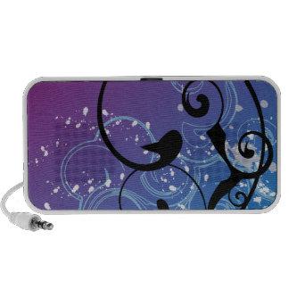 Purple & Blue Abstract Swirl - Speakers