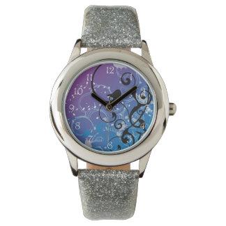 Purple & Blue Abstract Wristwatch