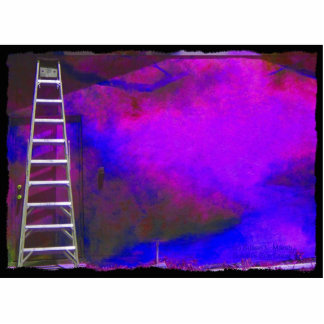 Purple Blue and Black background with ladder photo Acrylic Cut Out