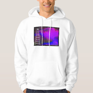 Purple Blue and Black background with ladder photo Hoodie