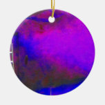 Purple Blue and Black background with ladder photo Christmas Ornaments
