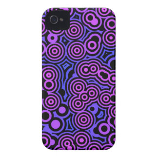 Purple, blue and black swirly pattern iPhone 4 cover