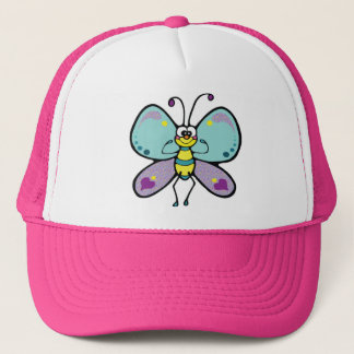 Purple, Blue and Funny Butterfly Trucker Hat