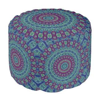 Purple, Blue and Green Mandala Pouf