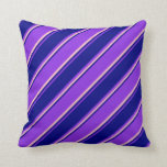 [ Thumbnail: Purple, Blue, and Pink Colored Pattern Pillow ]