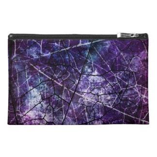 Purple, Blue, and Red Crackle Grunge Texture Travel Accessories Bags