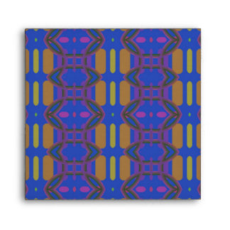 Purple, Blue and Yellow Pattern Envelope