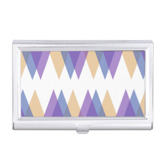 Purple, blue and yellow triangles business card case