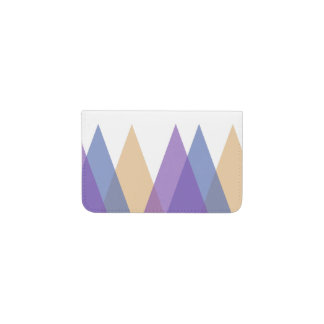 Purple, blue and yellow triangles business card holder