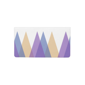 Purple, blue and yellow triangles checkbook cover