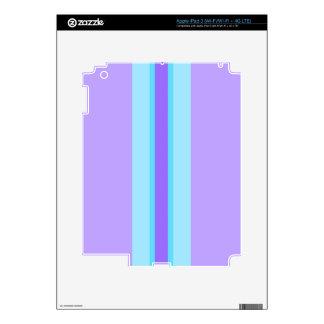 Purple, Blue, Aqua Striped iPad 3 Skin