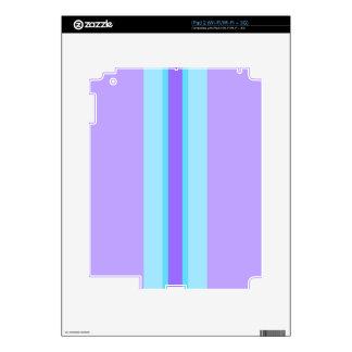 Purple, Blue, Aqua Striped Skin For The iPad 2